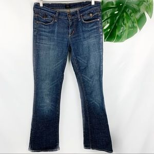 Citizens Of Humanity Whiskering Dark Wash Boot Cut